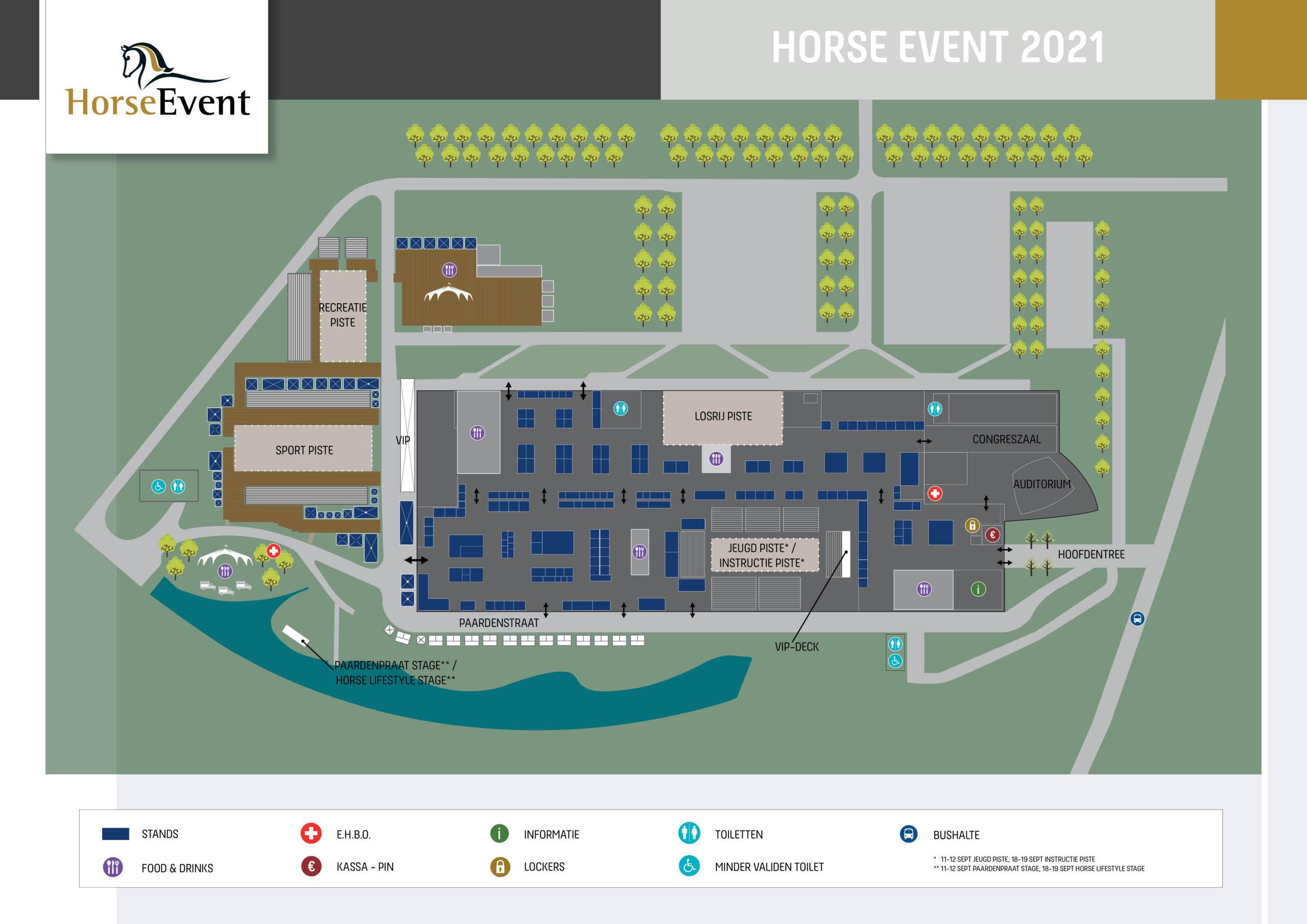 Plattegrond Horse Event 2021
